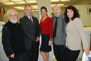 """Cook County Treasurer Maria Pappas presents """"The Bulgarian Heritage and Art during the Middle Ages"""" photo exhibit in her downtown Chicago office."""