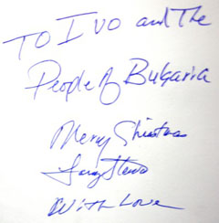 Larry Stewart Autograph