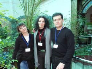 Участници в Конгреса – Елена Начева, Биляна Попова, Нино Нинов