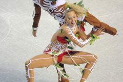 Шоково изпълнение на танци на леда – Оксана Домина и Максим Шабалов
