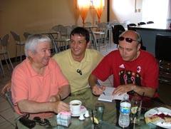 Орлин Крумов, Шефкет Чападжиев, и Русен Русев /в средата/.