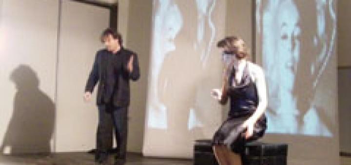 """One Way Theater"" - Пиесата ""Револверът"", автор и режисьор Мая Праматарова, в главните роли Джина Ди Донато от Ню Йорк и Иван Ангелов, Чикаго"