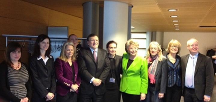 Първанова на среща с Барозу