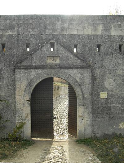 Входът на крепостта Меджиди табия - Силистра