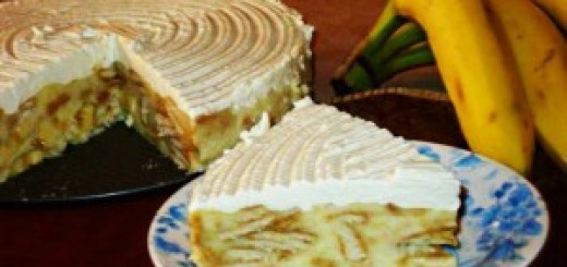 Бананова торта с бисквити