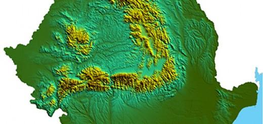 Карта на Румъния и Карпатите
